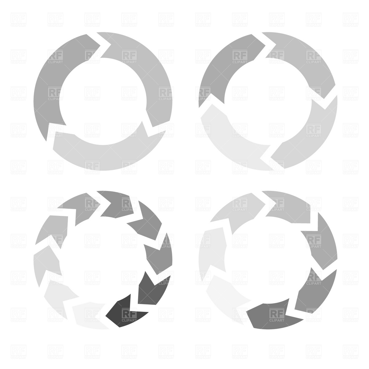 Arrows in a circle flow Stock Vector Image.