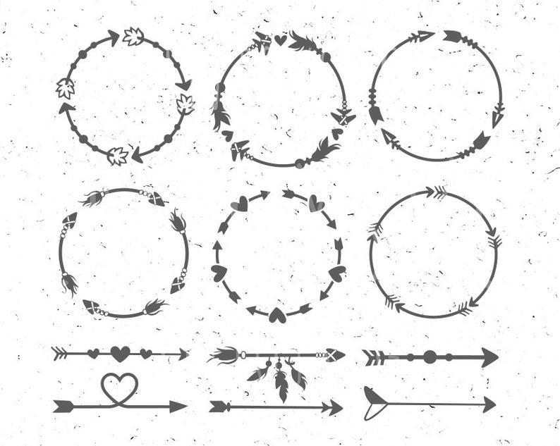 Arrow Circles svg Circles arrow svg Arrow Monogram svg Circle svg Arrow  frames svg Arrow monogram frames Arrow svg clipart Heart svg boho.