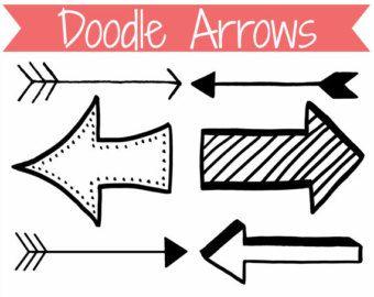 Free doodle arrow clipart.