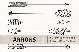 free vintage arrow clip art.