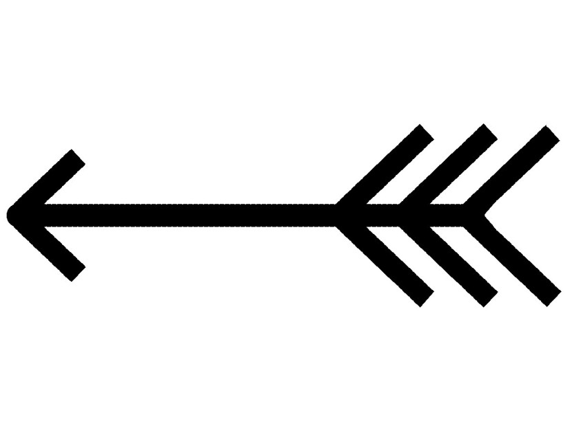 Fancy single arrow clipart.