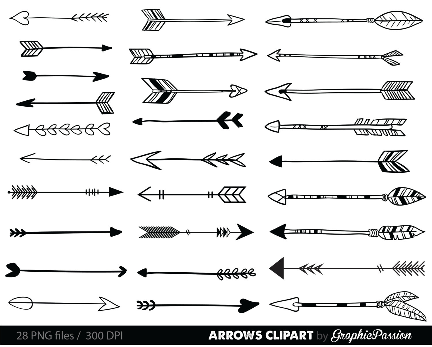 Tribal Arrow Clipart.