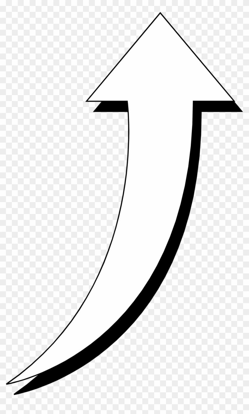 Download Free png Curved Arrow Arrow Black And White Clipart Kid.