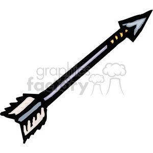 black and white arrow clipart. Royalty.