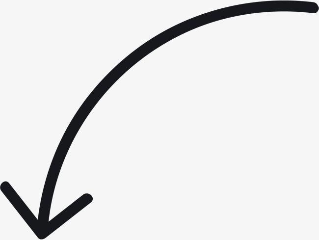 Curved Arrow Tool, One Way Arrow, Hand Drawn Arrow PNG.