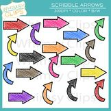 Scribble Arrows Clip Art Freebie.