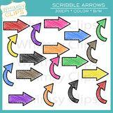 Scribble Arrows Clip Art Freebie.
