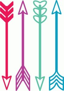 Feather Arrow Silhouette Clipart.
