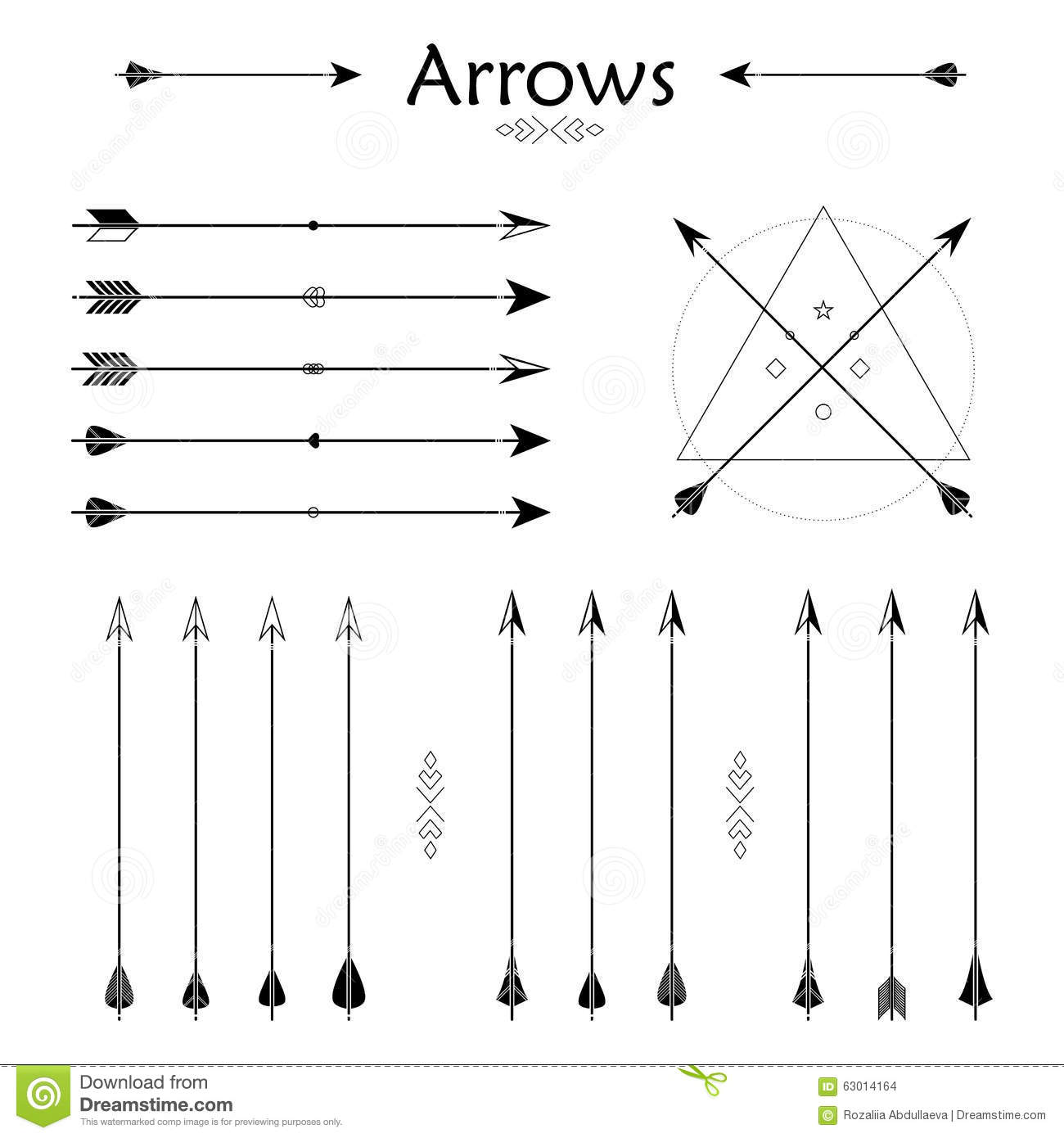Arrow Clip Art Set In Vector On White Background Stock Vector.
