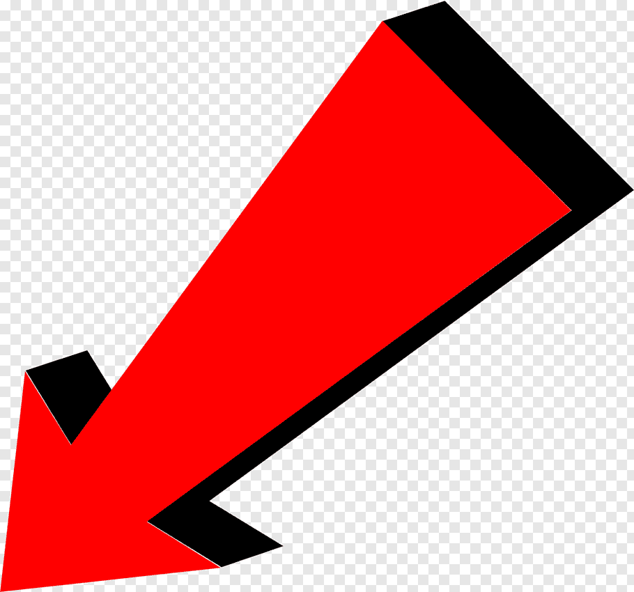 Red and black arrow down icon, Arrow Red Pointing Bottom.