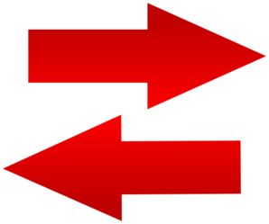 Left Right Red Arrow Icon Aligned Clip Art at Clker.com.