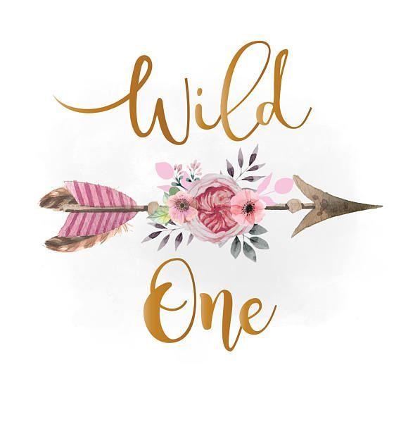 Wild a svg Clipart, pink floral arrow arrow watercolor Boho.