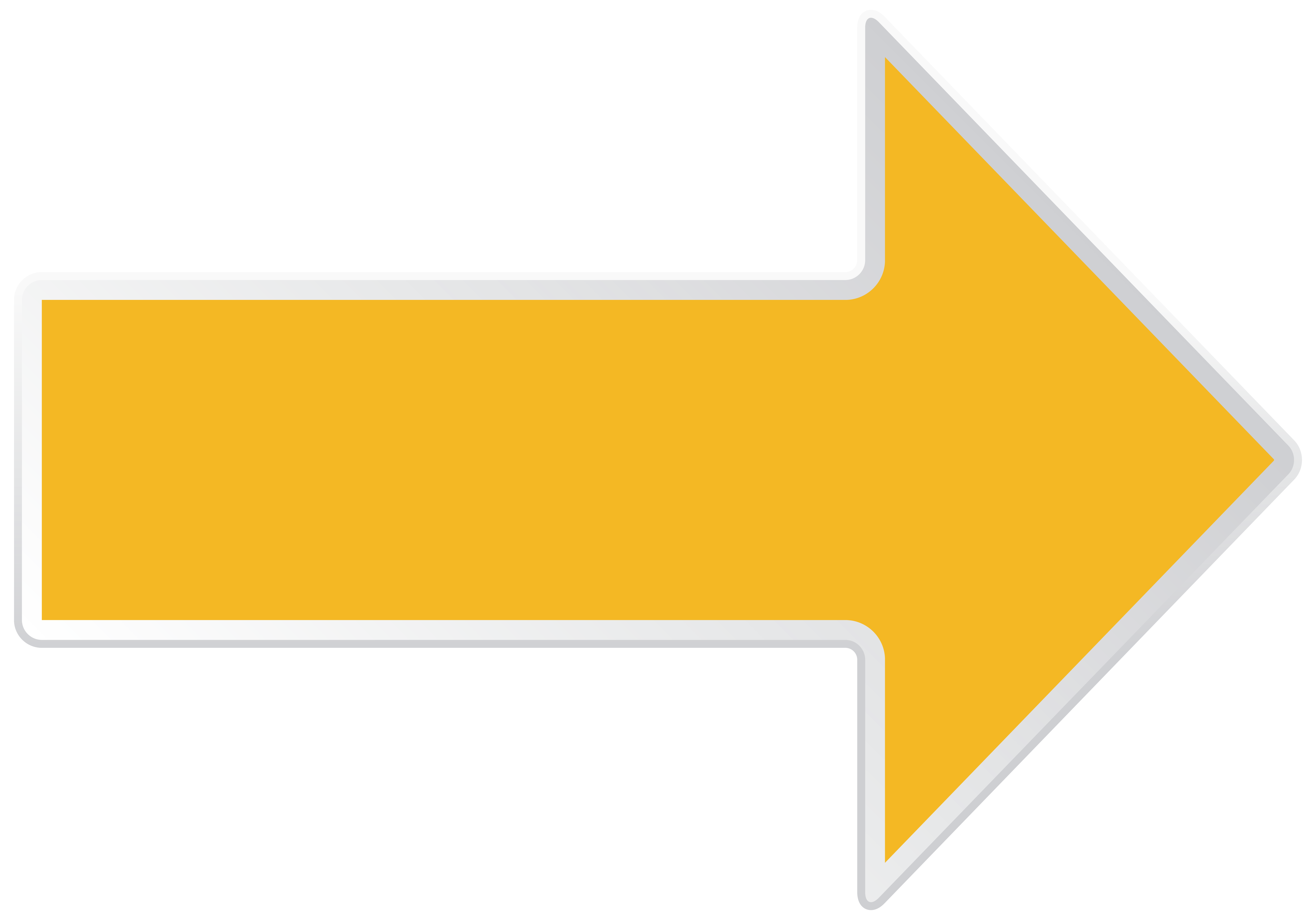 Arrow Yellow Right Transparent PNG Clip Art Image.