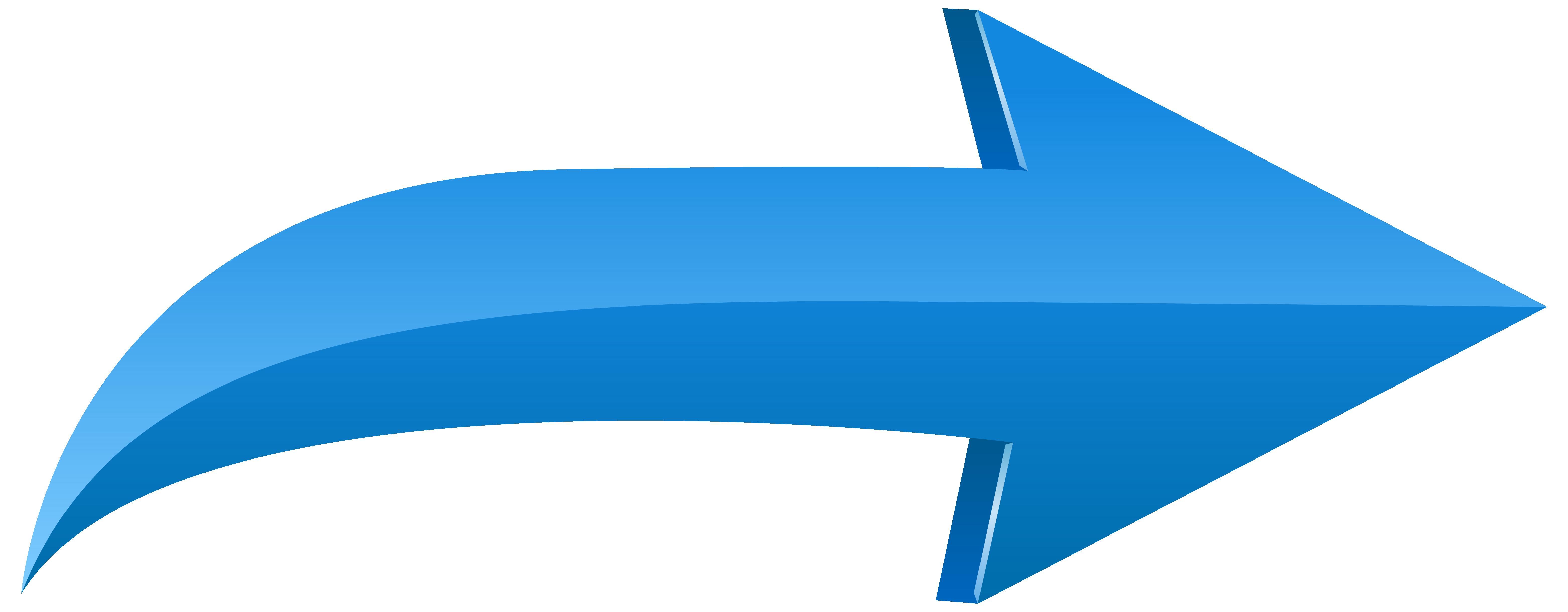 Arrow Left Blue PNG Transparent Clip Art Image.