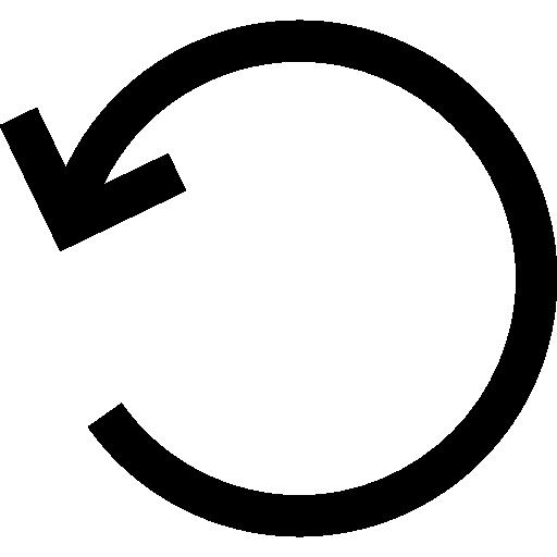 Rotate left circular arrow interface symbol.