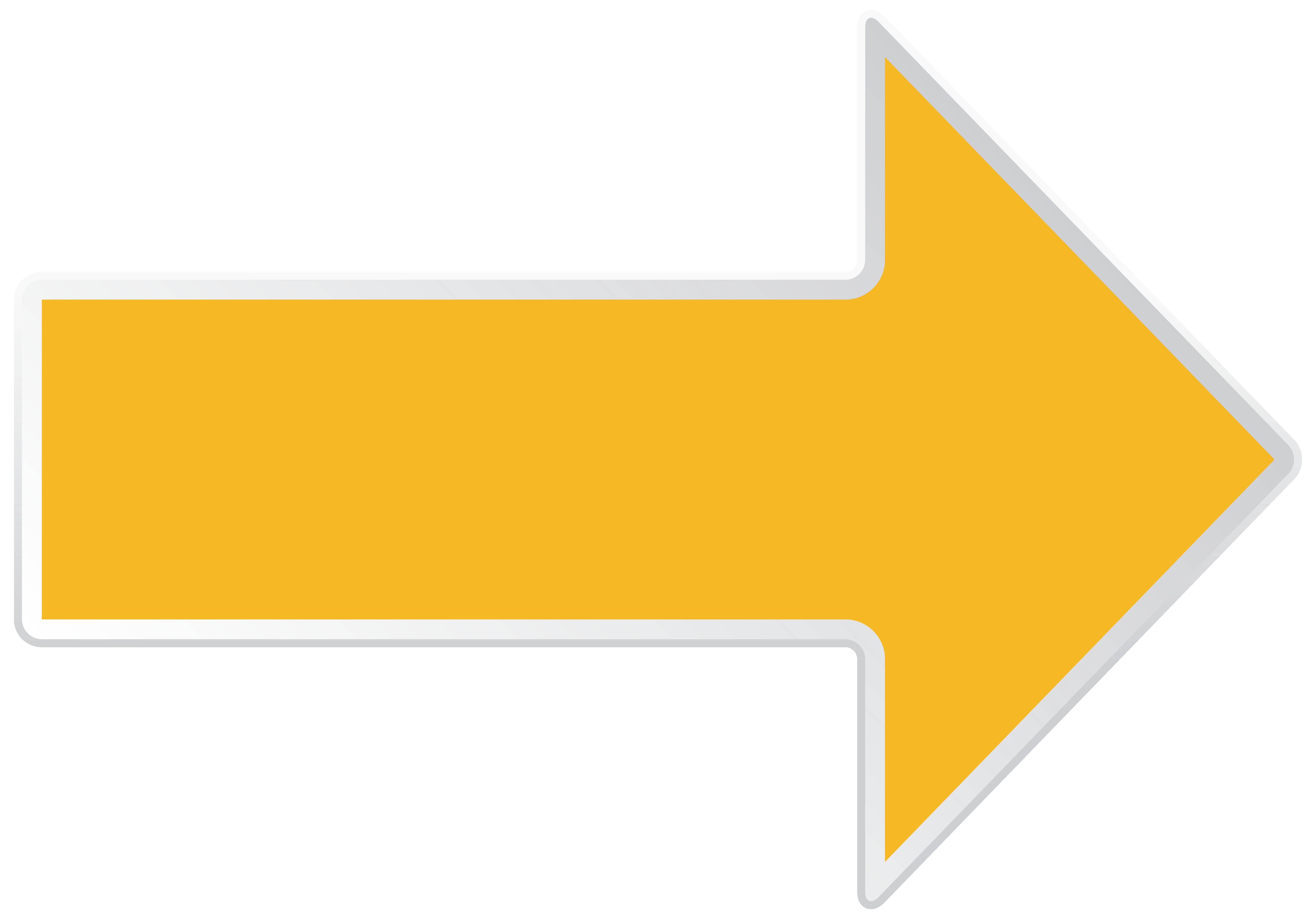 Arrow Yellow Right Transparent PNG Clip Art Image.
