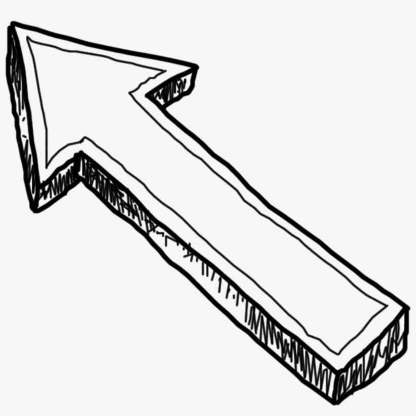Doodle Arrow Png Transparent Image.