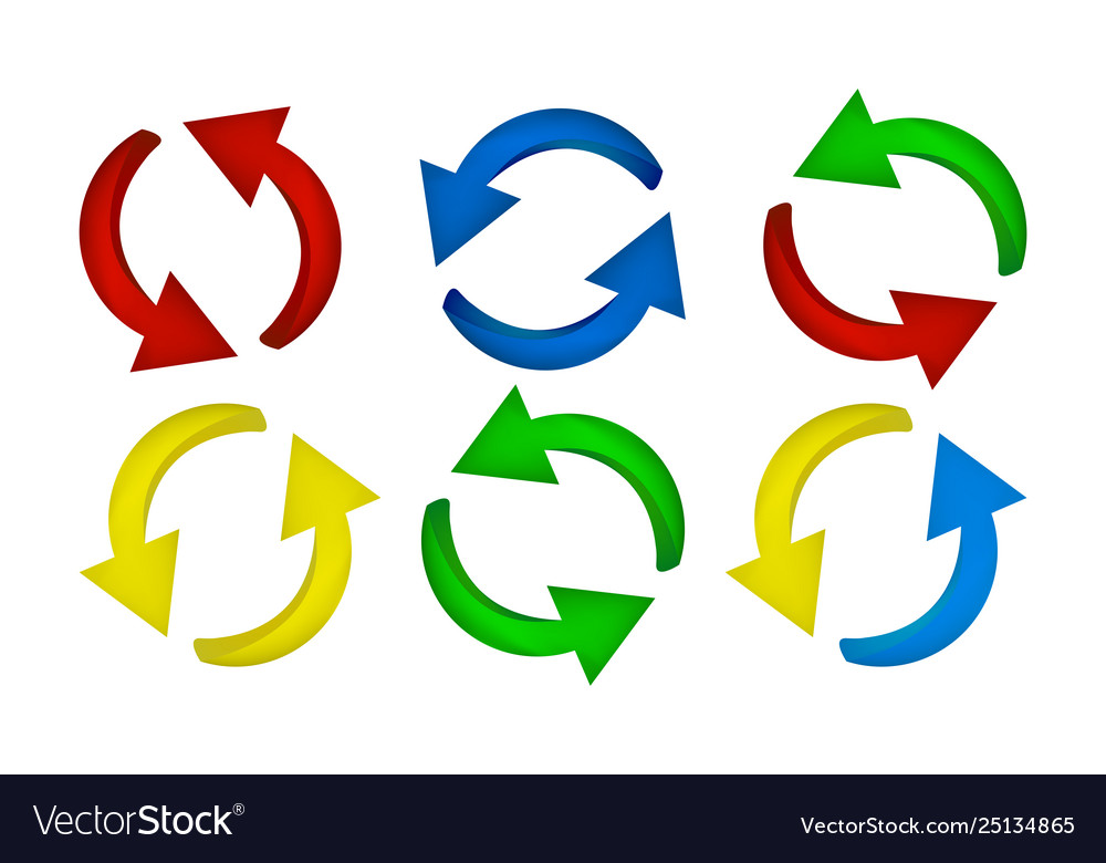 Arrow symbol colorful icon clipart cycle business.