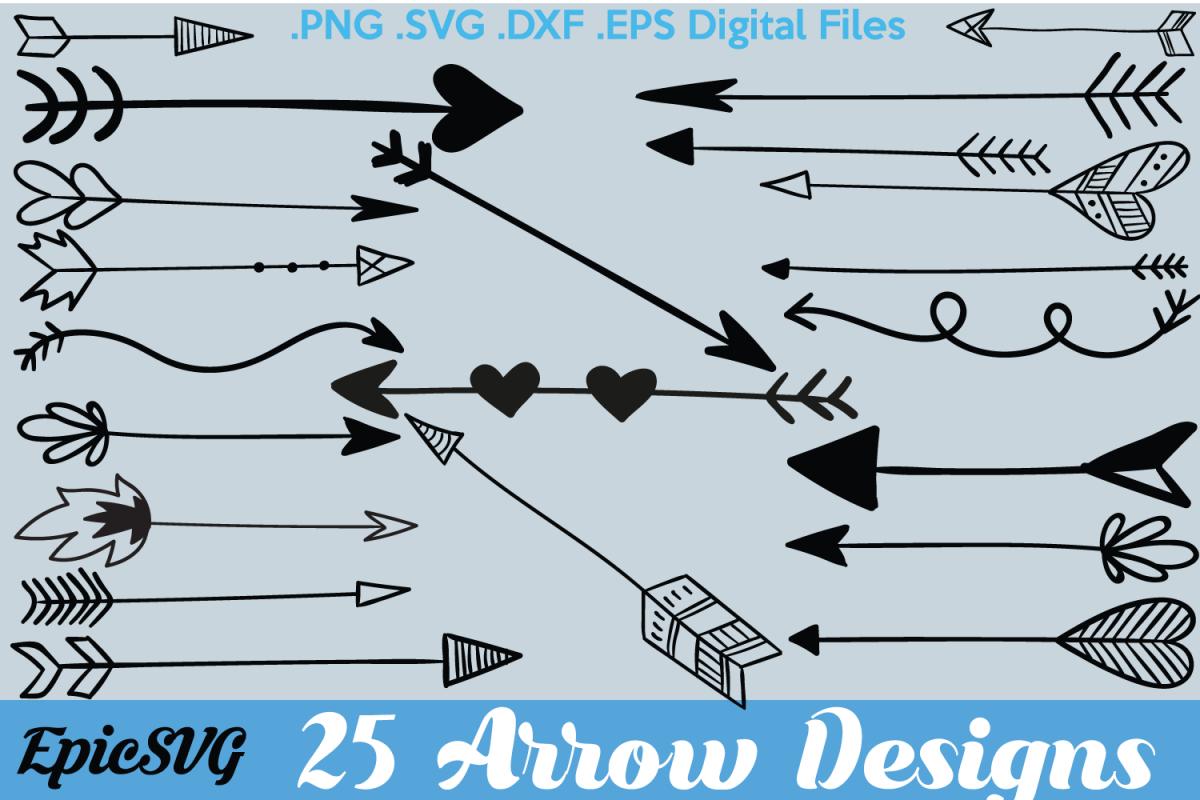 25 Arrows Cute Sketch.