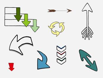 Bundle of 9 Clip Art Arrow Designs.