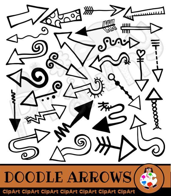 Arrow Doodle Clip Art.