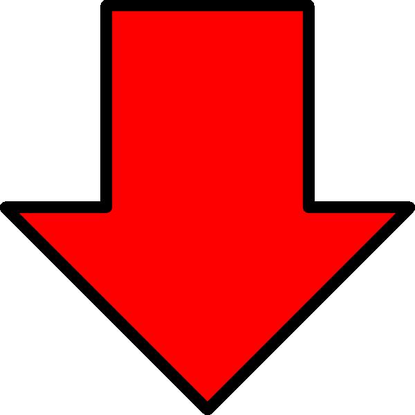 Red Down Arrow Clip Art at Clker.com.