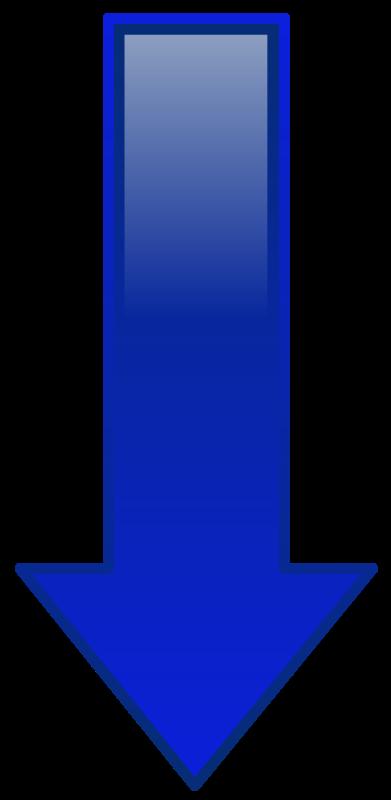 Free Clipart: Arrow Down Blue.