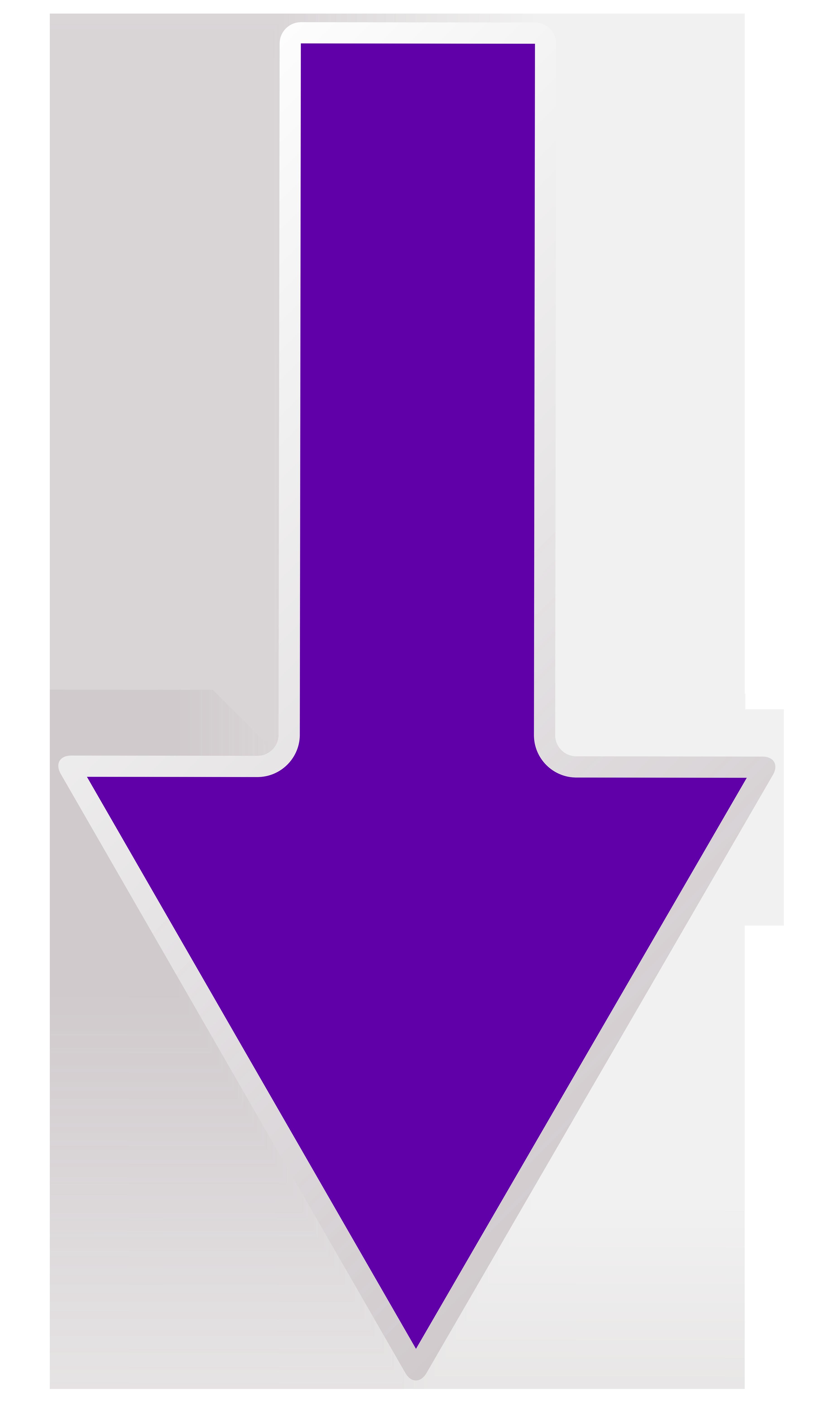 Arrow Purple Down Transparent PNG Clip Art Image.