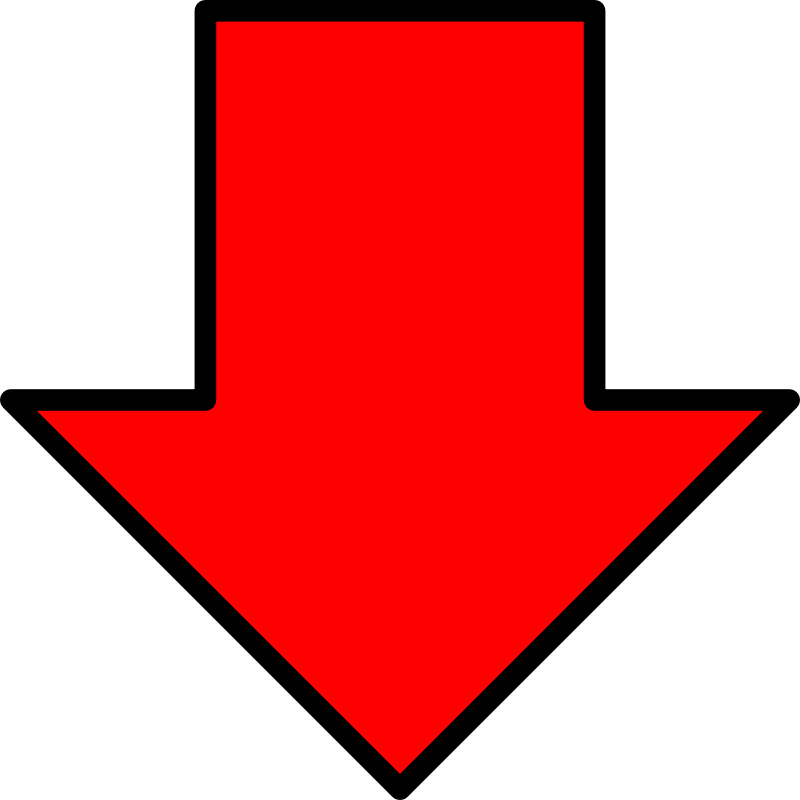 Free Clipart: Red down arrow.