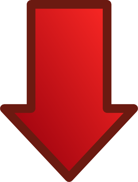 Free Red Arrow Down, Download Free Clip Art, Free Clip Art.