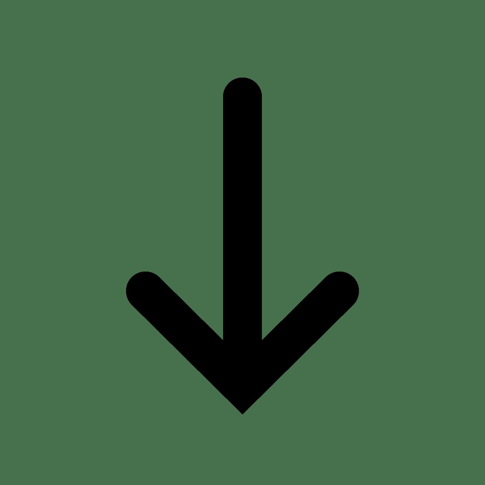 Down Arrow transparent PNG.