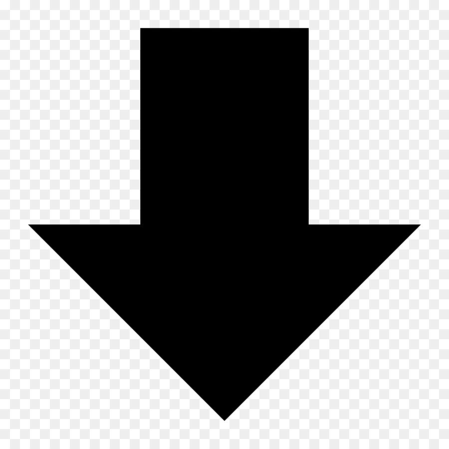 Down Arrow Symbol png download.