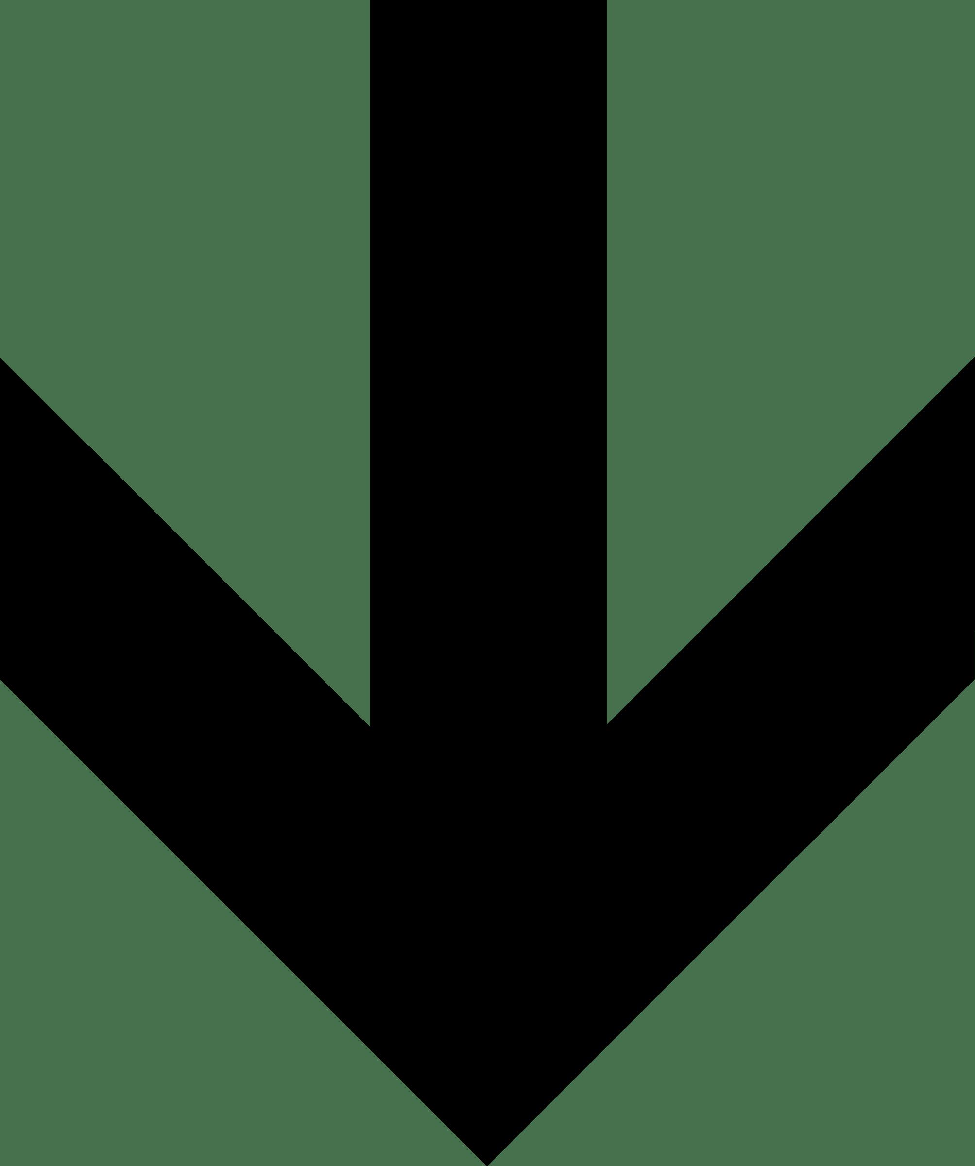 Bold Arrow Down transparent PNG.