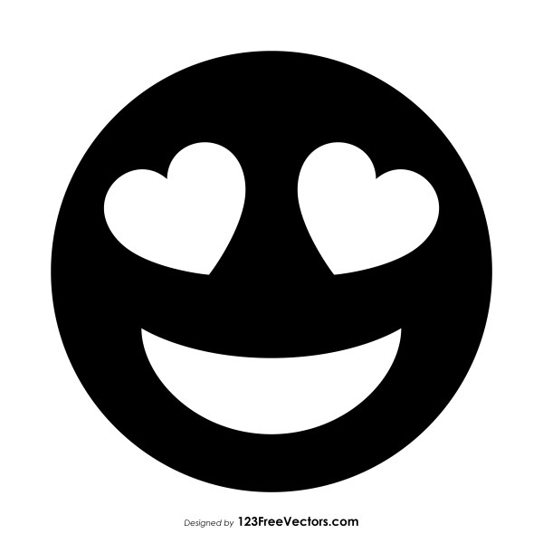 Black Smiling Face with Heart.