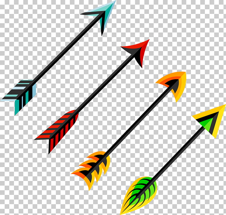 Feather Arrow Euclidean , hand painted feather arrow PNG.