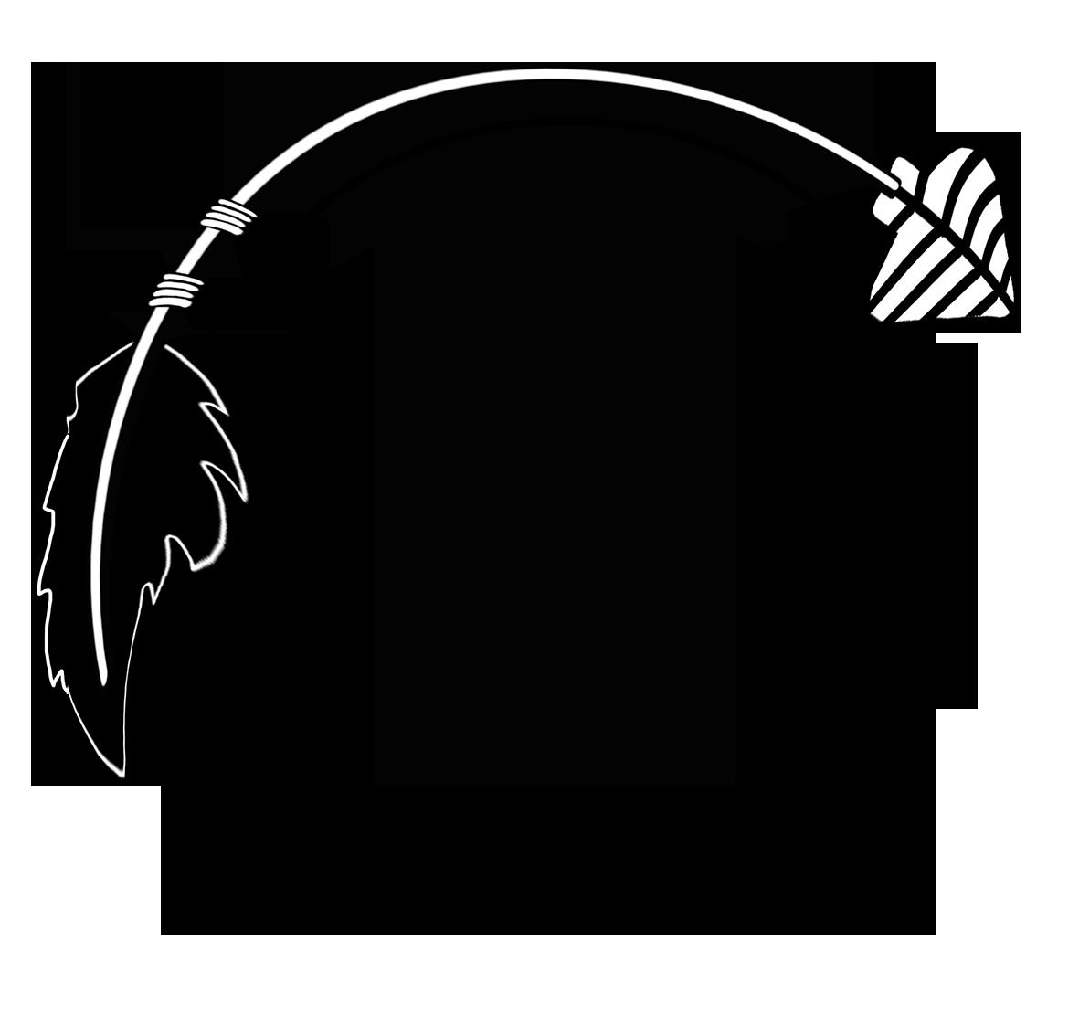 black curved arrow frame.