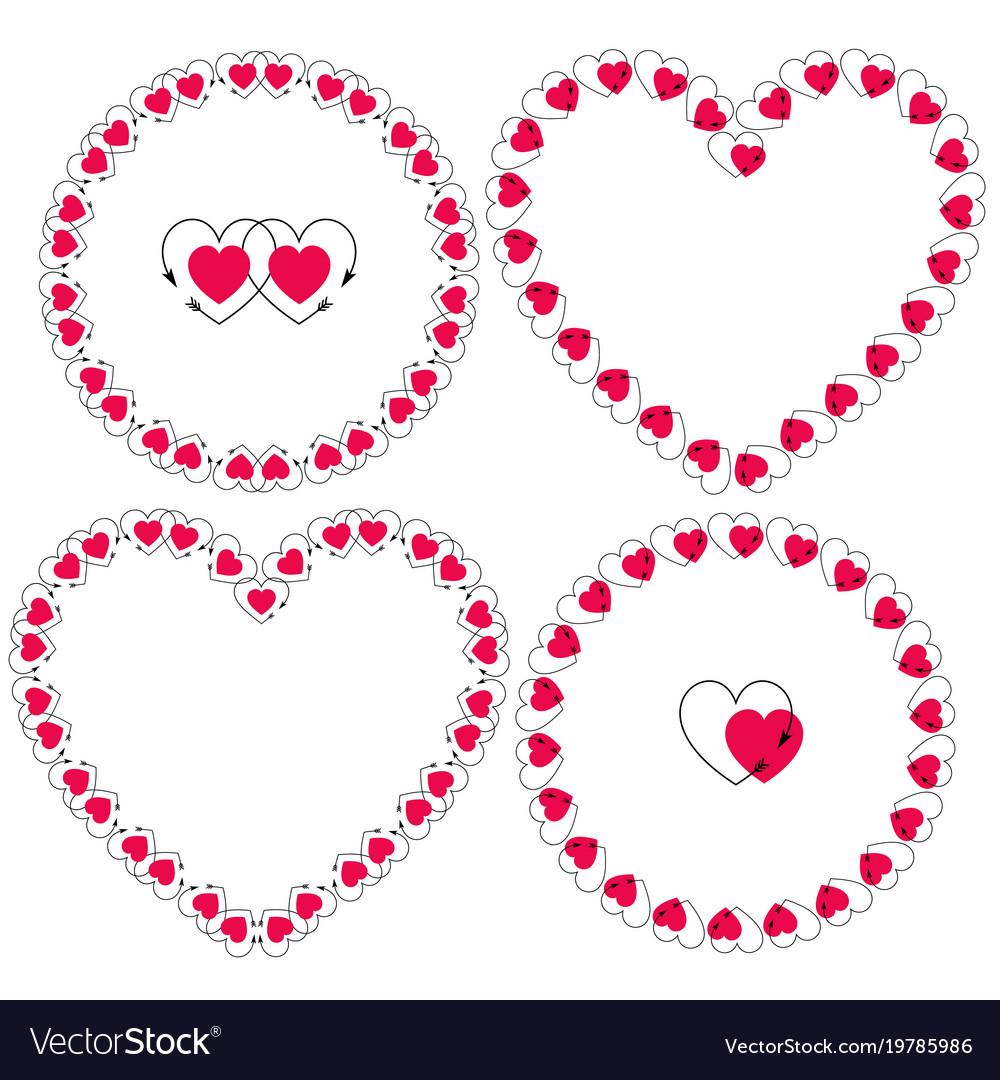 Heart with arrow frames clipart.