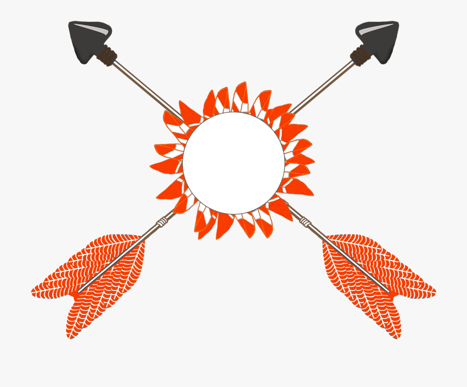 Orange Red Tribal Arrows Clipart.