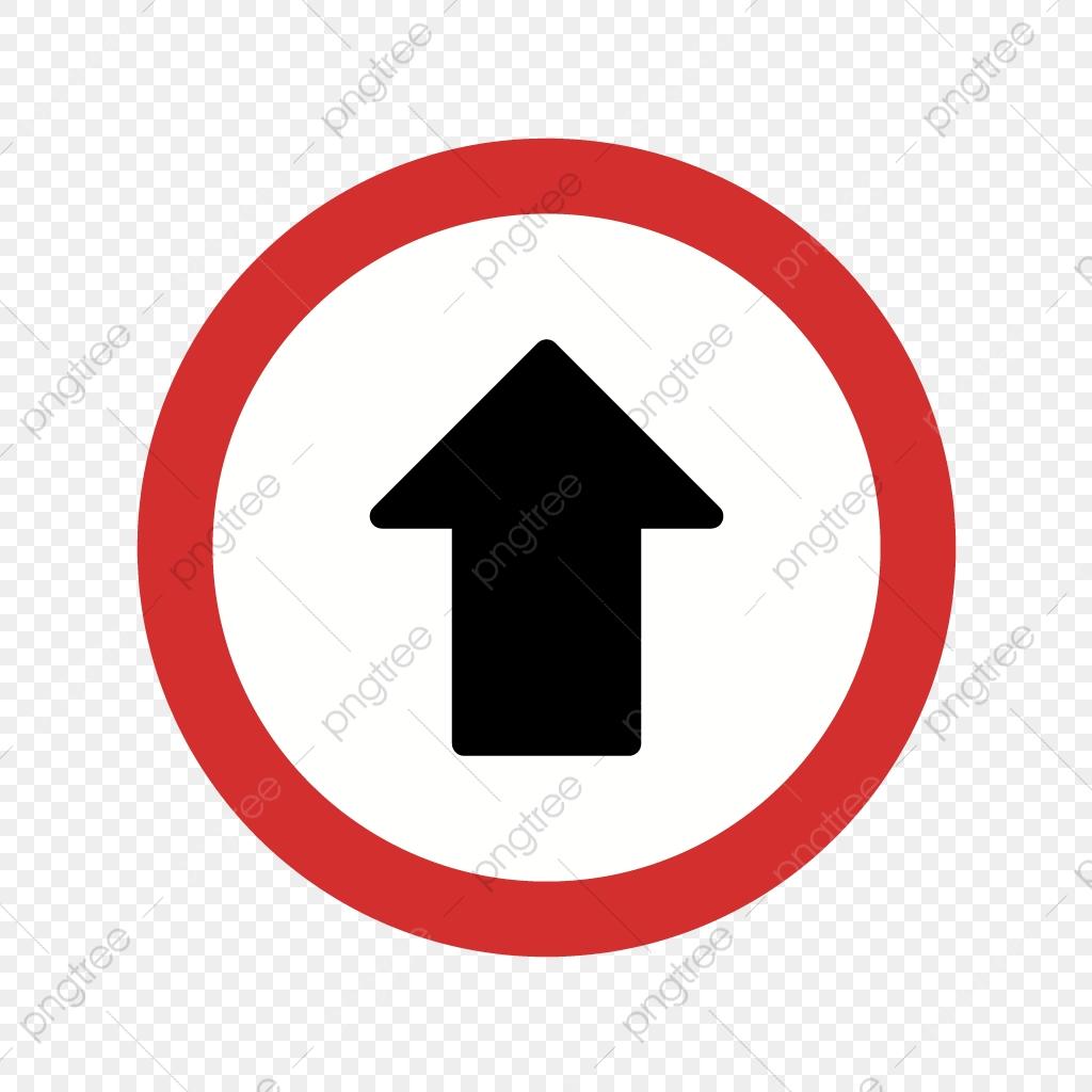 Vector Go Straight Ahead Icon, Arrow Icon, Go Icon, Road.
