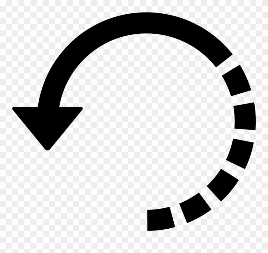 Arrow Circle With Half Broken Line.
