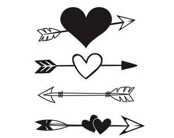 Heart arrow svg.