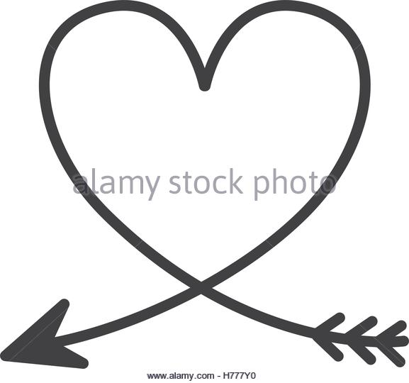 Heart With Arrow Stock Vector Images.