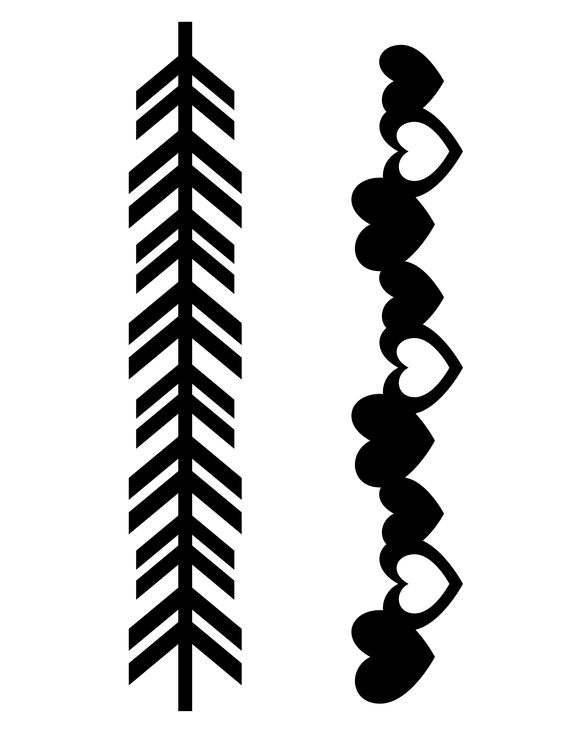 arrow heart clipart black and white for silhouette 20 free ...
