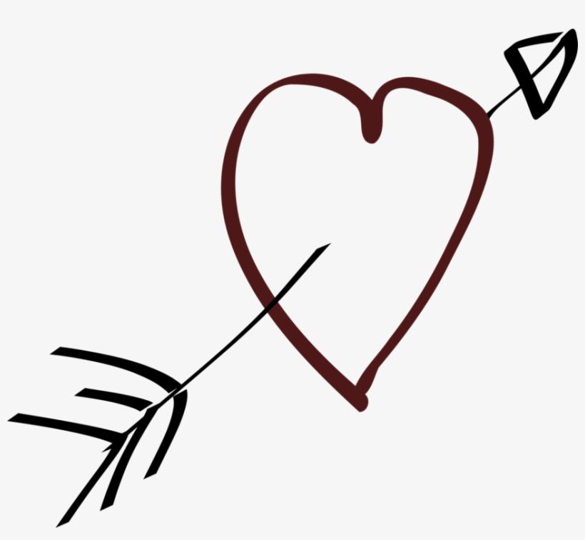 Heart With Arrow Clip Art At Clker.
