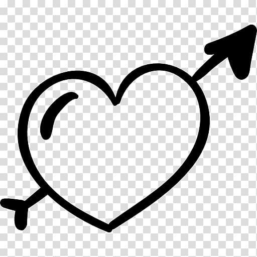 Heart Arrow, heart transparent background PNG clipart.
