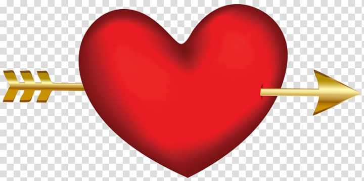Red heart and gold.