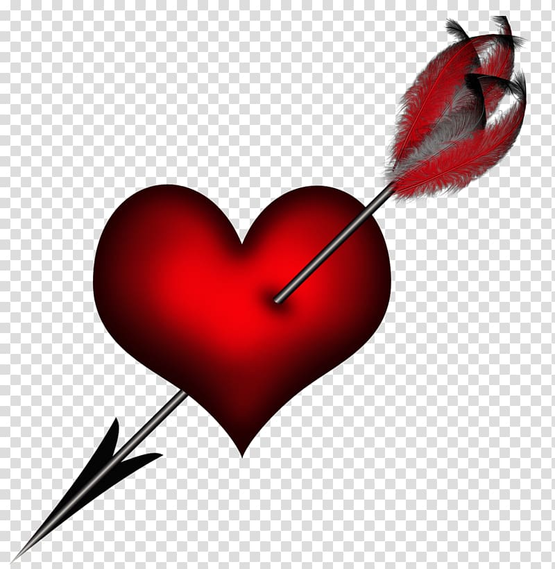 Cupid heart with arrow , Heart, Heart with Arrow transparent.