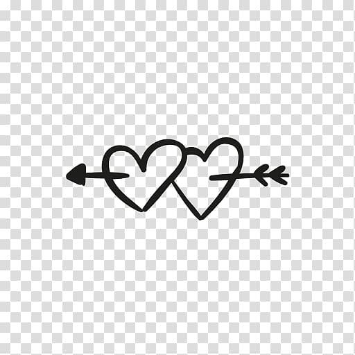 Hearts with arrow illustration, Heart Computer Icons Arrow.