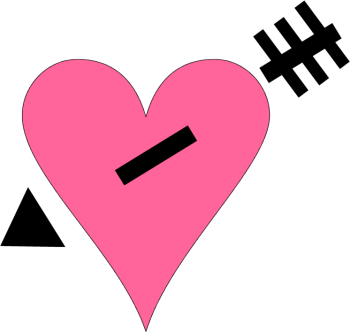 Pink Heart Black Arrow Clip Art.