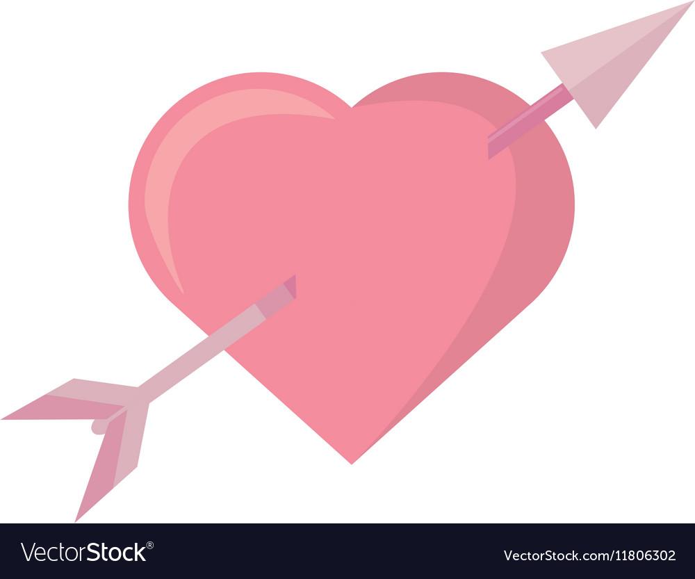 Pink heart arrow love symbol.